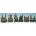 Assorted Castle/Cliff 8-10cm Box 6