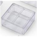 Clear Plastic Feeder W/Cover 4-Hole 90mm