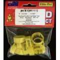 Plastic Poultry Leg Rings - Flat Band - Large