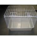 Vet Carrier,Plastic Base W/Wire Top - Medium Size