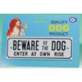 Gate Sign - Small Beware Of Dog