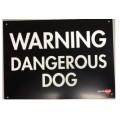 Plast.GateSign-Warning Dangerous Dog
