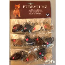 Fur Mouse, Small, 12 On Card
