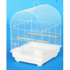 Birdcage-Curve Roof - White Cage