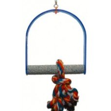 Acrylic Swing with Grit Perch Large