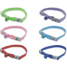 Nylon Adjustable Cat Collar W/Bell