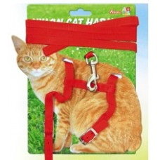 Nylon Cat Harness W/Lead Carded Large Cat