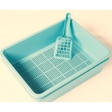 Litter Tray with Sieve - Blue Colour