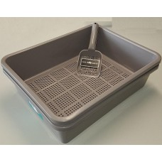 Litter Tray with Sieve - Charcoal Colour