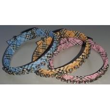 Jewel Cross Check Collar 50cm
