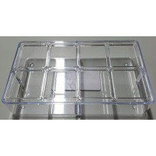 8 Hole Clear Plastic Feeder 158mm