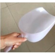 White Plastic Scoop