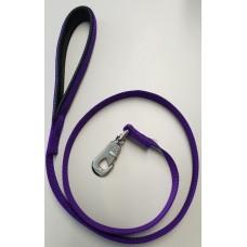 Purple Padded Handle Deluxe Soft Nylon Lead 25mm x 120cm