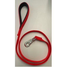 Red Padded Handle Deluxe Soft Nylon Lead 25mm x 120cm