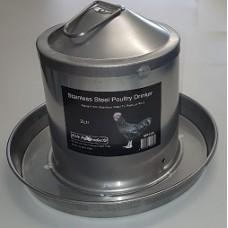 Stainless Steel Poultry Drinker 2Ltr