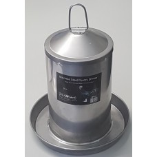 Stainless Steel Poultry Drinker 3Ltr