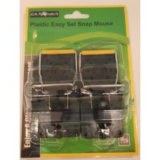 Easy Set Plastic Mouse Snap Trap With Wire Bar Pkt 2