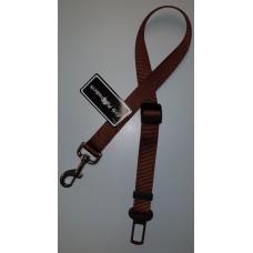 Brown Car Restraint Safe-T-Strap W/Seat Belt Buckle