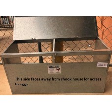 Hanging Outside Metal Poultry Layer Box - 2 Hole