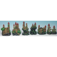Assorted Castle/Cliff 8-10cm Box 6