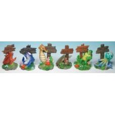 Resin Sea Creatures W/Sign **6 Assort Per Box