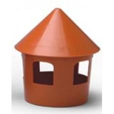 Small Plastic Brown Feeder D18.5Xh21cm