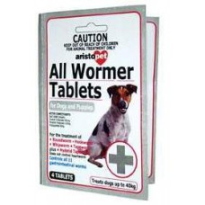 6'S All Wormer Tablets For Dogs 10Kg/Tablet Carded