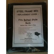 Bolt Type Steel Frame Bed Nylon Mesh Cover - Medium
