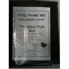 Bolt Type Steel Frame Bed Nylon Mesh Cover - Large