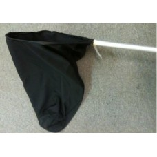 Bird Net Solid Black Material - Large