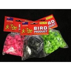 Plastic Bantam Leg Rings -Small Poultry Flat Band Pkt 100