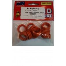 Plastic Poultry Leg Rings - Spiral Pkt 10