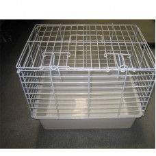Vet Carrier,Plastic Base W/Wire Top - Medium Size