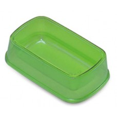 Plastic Rect Small Animal Feeding/Water Bowl