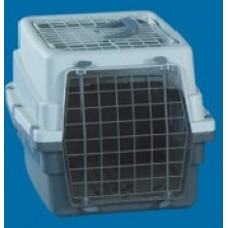 All Plastic Pet Carrier W/Wire Top - Wire Door 49 X 33 X 31cm