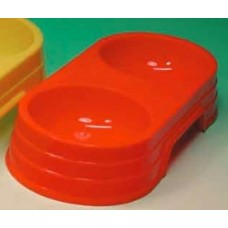 Plastic Twin Bowl - Small