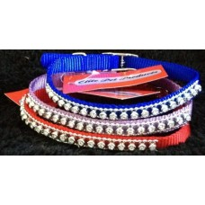 Jewelled Cat Collar - *Black,Blue,Pink & Red