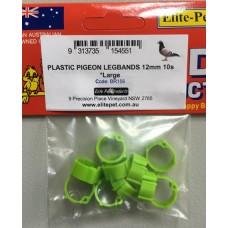 Plastic Pigeon Rings Large 10s