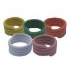 Plastic Bantam Leg Rings - Spiral Pkt 10