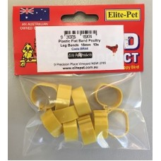 Plastic Poultry Flat Band 18mm Pkt 10