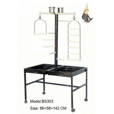 Steel Bird Play Stand on Wheels