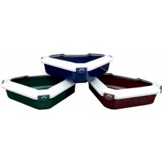 Corner Litter Tray with Rim