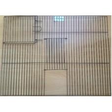 Black Cage Front 2 Door 605x455