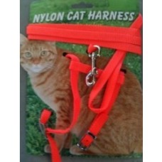 Nylon Cat Harness W/Lead Carded Small Cat,Kitten