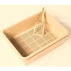 Litter Tray with Sieve - Beige Colour