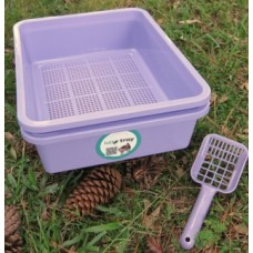 Standard Kitter Litter Tray Set - Purple Colour