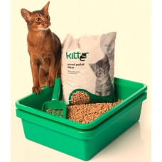 Deluxe Kitter Litter Tray Set - Green Colour