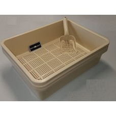 Deluxe Kitter Litter Tray Set - Beige Colour