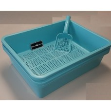 Deluxe Kitter Litter Tray Set - Blue Colour