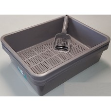 Deluxe Kitter Litter Tray Set - Charcoal Colour